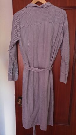 Vestido camiseiro violeta by mango