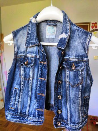 Kamizelka jeansowa Bershka