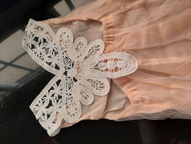 Vestido branco cerimónia, comunhão festa 6 anos Envio grátis