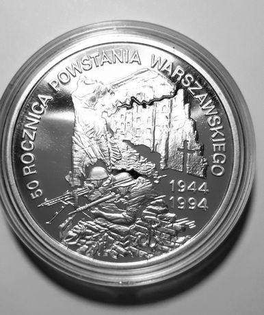 300000zł Rocznica Powstania Warszawskiego 1994 srebro