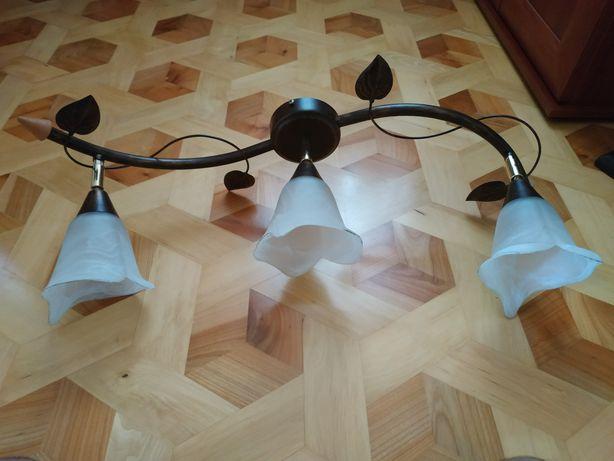 Żyrandol metalowy 3 żarówki