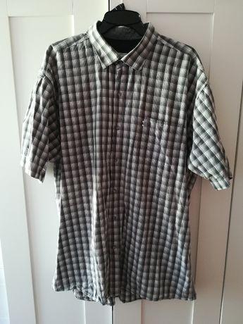 Koszula męska w kratkę krata krateczka szara Jack Polo XXL jak nowa