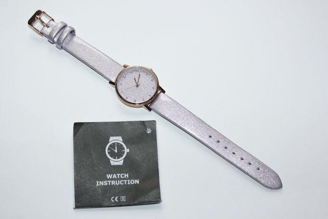 Fioletowy Brokatowy Zegarek Sinsay Nowy