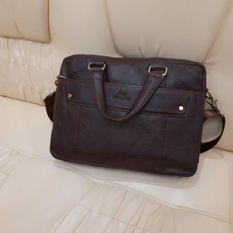 Мужской кожаный портфель сумка