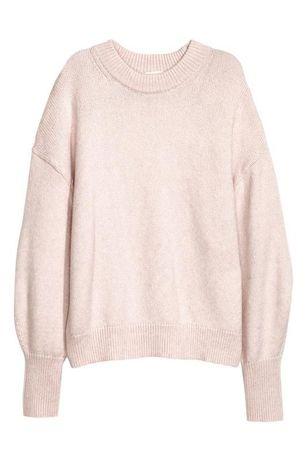Трендовый теплый объемный свитер с пышными/объемными рукавами от H&M.