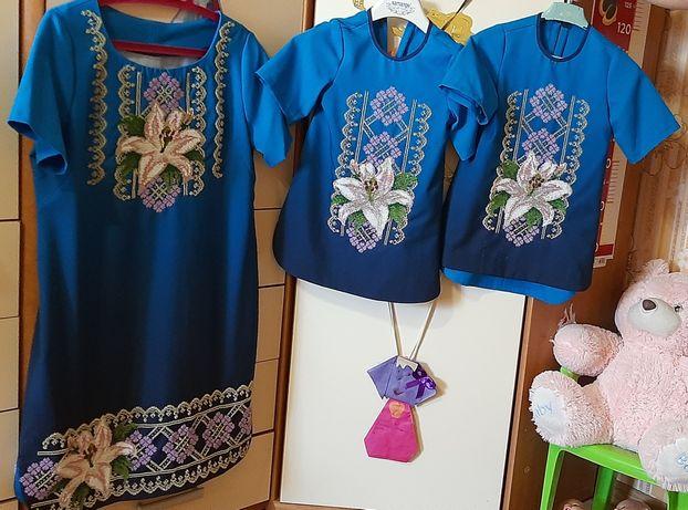 Family look .  Фемели лук. Плаття мама+дочка