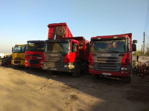Аренда Услуги спецтехники Scania, Renault, Полуприцепы от 1 до 35 тоны