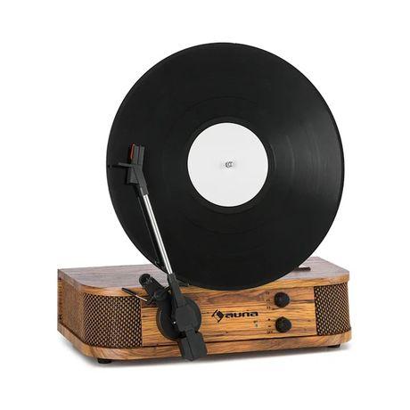 Nowy Gramofon Auna Verticalo retro, USB bluetooth drewno