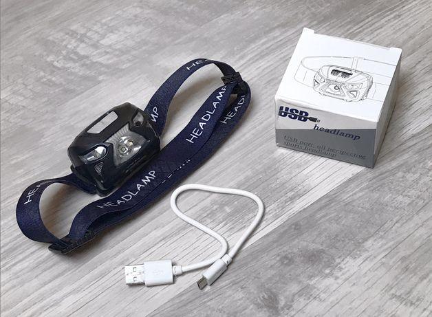 Фонарик налобный USB (150 люмен) Waterproof IPX4 Пропоходи Salewa