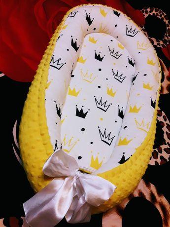Продам кокон гнездышко для малыша с кокосовым матрасиком
