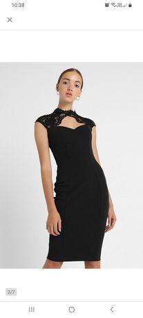 Czarna sukienka Sista Glam rozm. S/M, mała czarna ze stojką