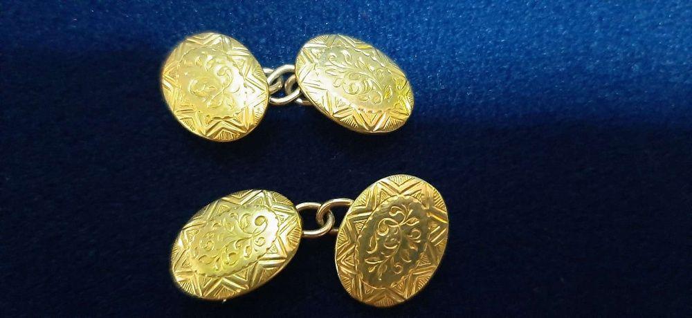 Złote spinki do koszuli 18k 750 5,24 g ---Lombard Madej Goelice ---