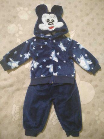Велюровый костюм для мальчика, теплый костюм для мальчика
