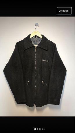 Vintage polar Versace czarny zip rozpinany Harrington Szwedka polarek