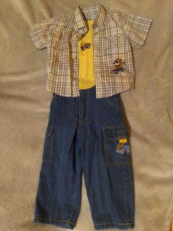 Костюм джинсы рубашка футболка нарядный