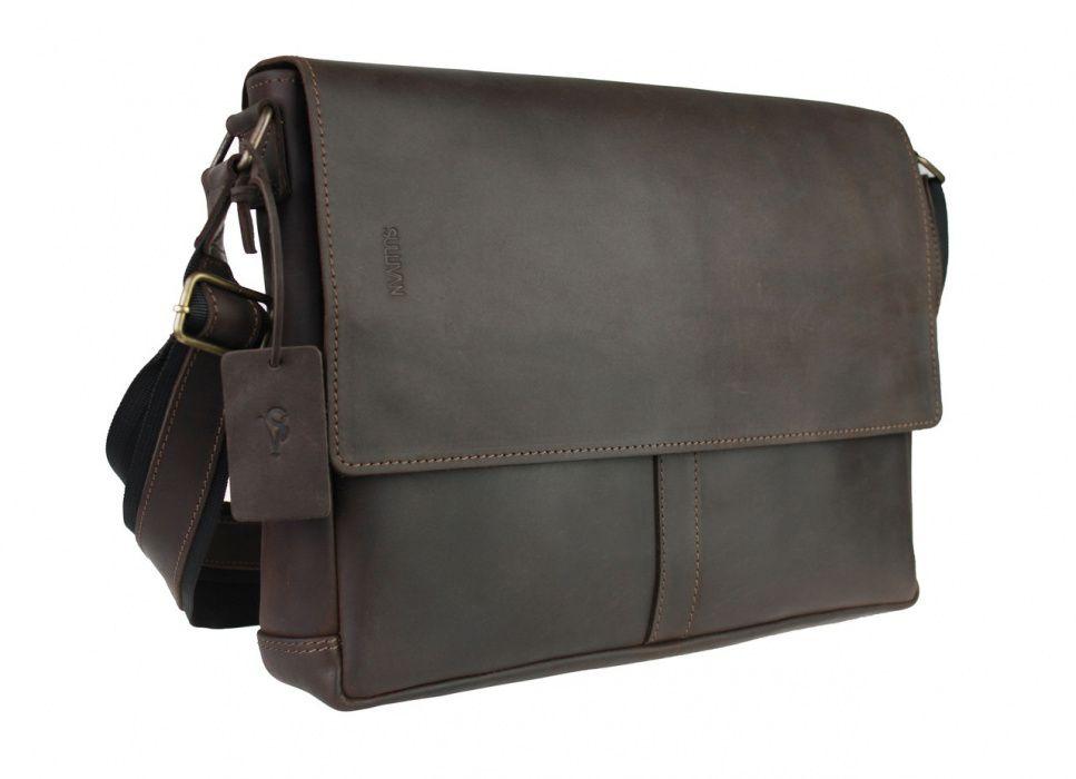 Кожаная мужская сумка А4 для ноутбука ручная работа sullivan Козелец - изображение 1