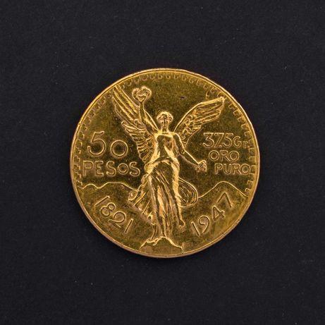 Moeda de ouro - 50 Pesos Mexicanos 1947