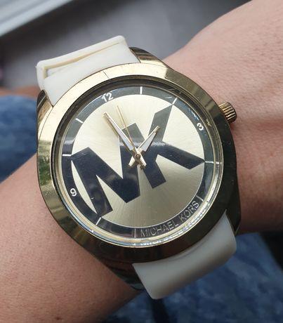 Zegarek Michael Kors biało złoty