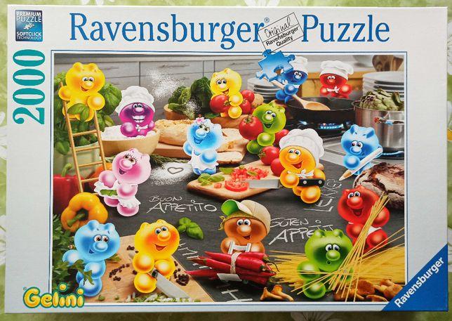 Puzzle Ravensburger Gelini Kuchnia 2000 el. (1 brak)
