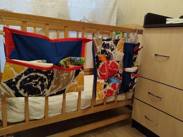 Органайзер на дитяче ліжечко з кишенями