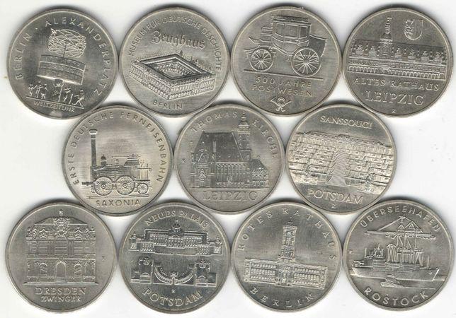 ГДР 5, 10, 20 марок подборка