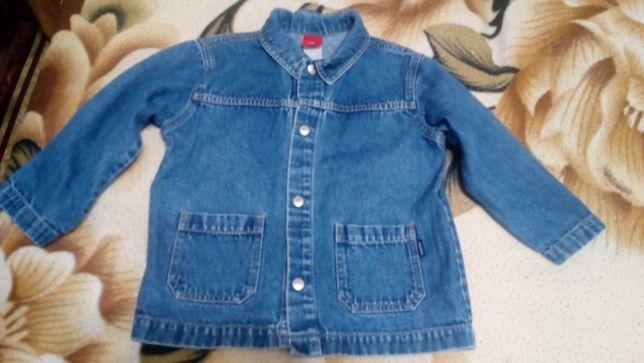 Джинсовый пиджак sanetta на мальчика