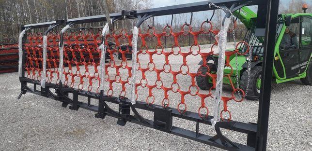 Polowa włóka łąkowo - polowa HYDRAULIKA 6m na 4 rzędy Gwarancja