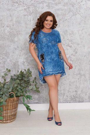 Платье женское   из джинс-котона