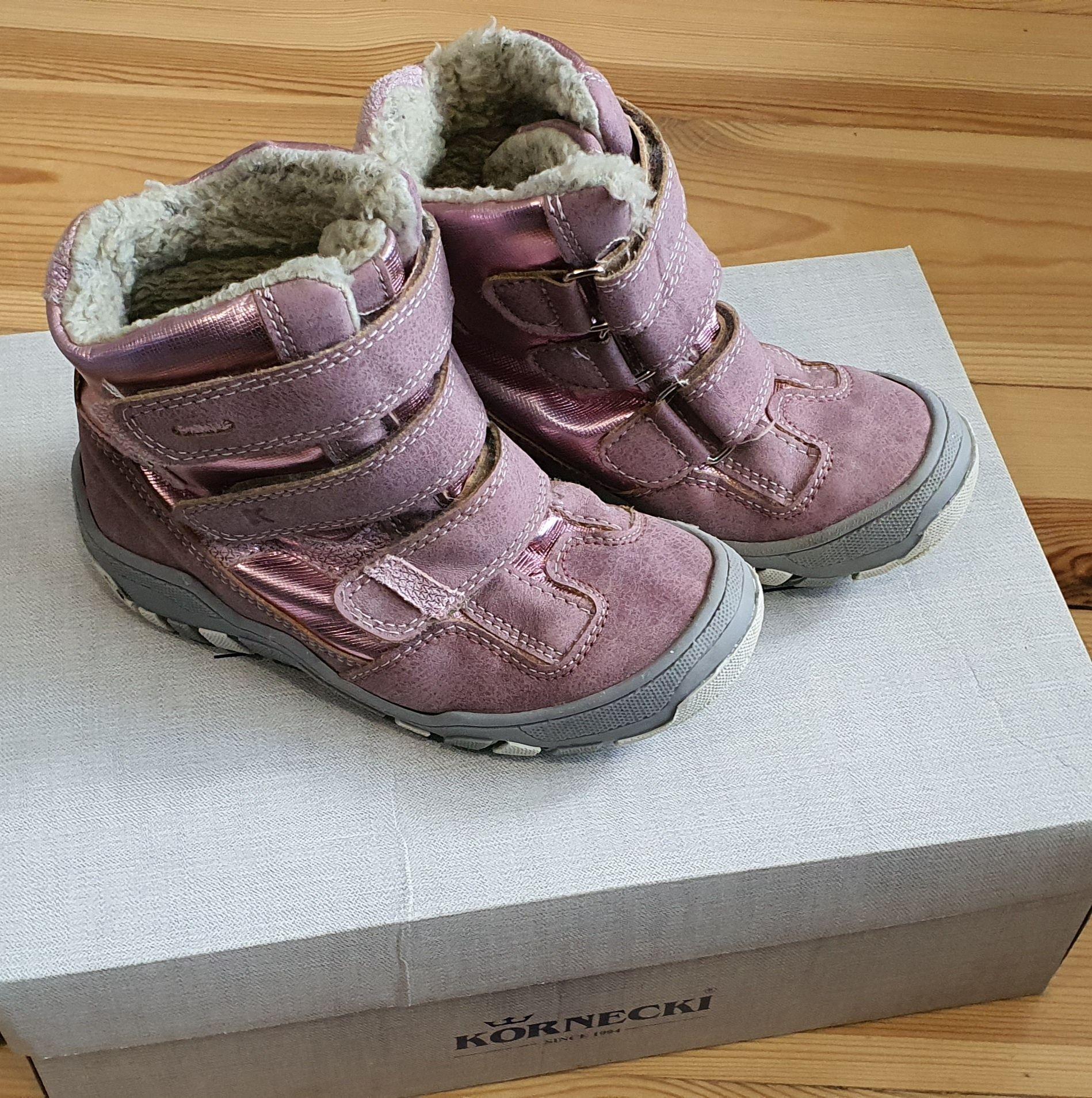 Buty zimowe dla dziewczynki rozmiar 28 wkładka 17cm Kornecki