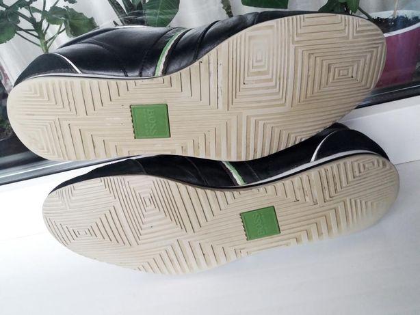 Мужские кожаные туфли мокасины кроссовки Hugo Boss оригинал обувь