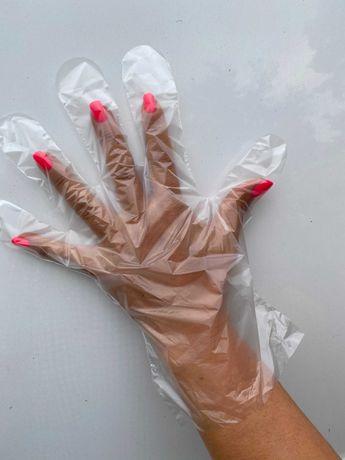Rękawiczki jednorazowe foliowe HDPE z perforacją