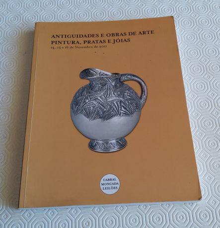18521#Livro catálogo de LEILÕES Antiguidade  obras Arte Pintura pratas