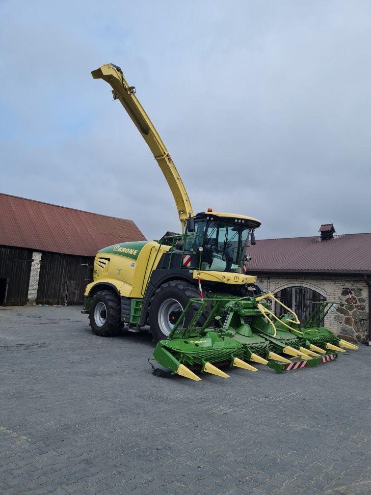 Koszenie kukurydzy nową sieczkarnią Krone Big X 680