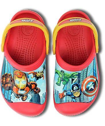 Кроксы Crocs на мальчика Мстители С10-11 р. 27-28