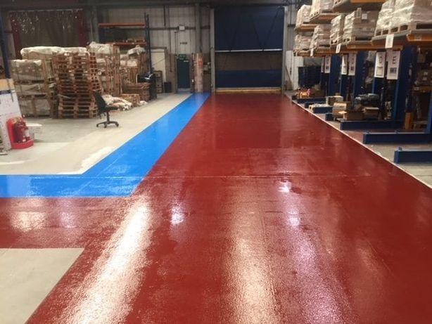 Zywica żywica epoksydowa posadzkowa podłoga taras czerwona 10kg= 20m2