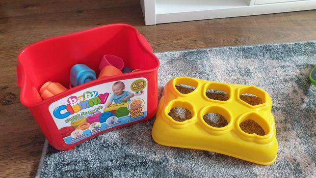 Klocki gumowe dla dzieci kształty baby clemmy pachnące