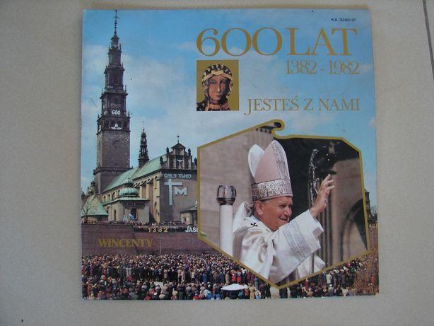 płyta winylowa , papież , 600-lat jesteś z nami
