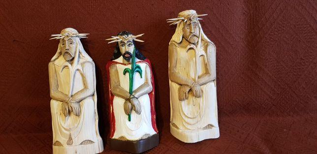 Rzeźby z drewna Jezus, Janosik matka boża  ..okazja!