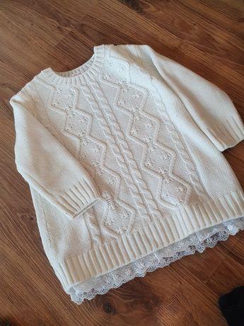 Dziewczęca tunika, sukienka hm 98/104