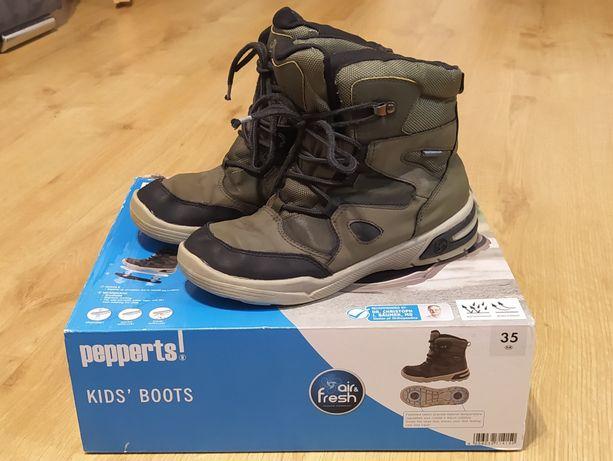 Buty zimowe śniegowce Pepperts r 35 wkładka 21,5-22 cm