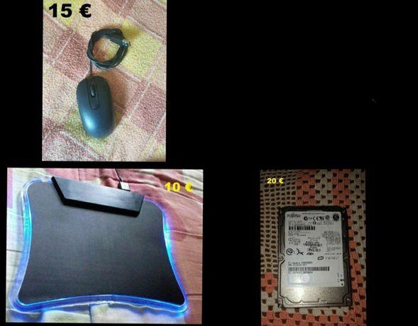 Disco de 120gb / rato usb / tapete rato para computador pc