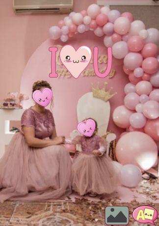 Невероятные платья Family look фемели лук, мама дочь на годик