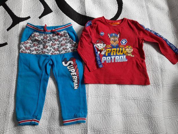 Bluzka Psi patrol oraz spodnie dresowe Superman