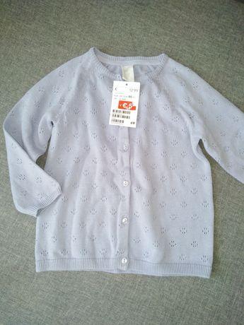Кардиган для девочки HM, детская одежда, кофточка