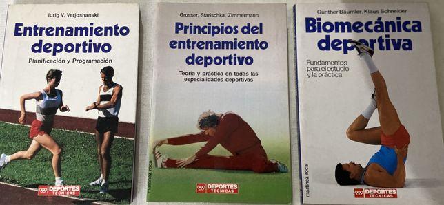 Livros diversos sobre o treino desportivo