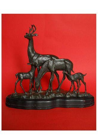 Старинная бронзовая настольная скульптура