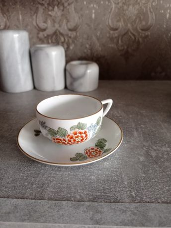 Чашечка с блюдцем тончайший фарфор Bohemia