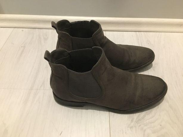buty damskie botki zimowe 39 graceland khaki jesień zima