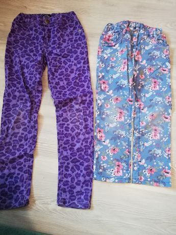 Spodnie jeansowe dziewczęce 4-6lat