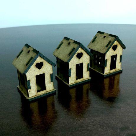 Drewniane domki do złożenia 5 cm 30 sztuk